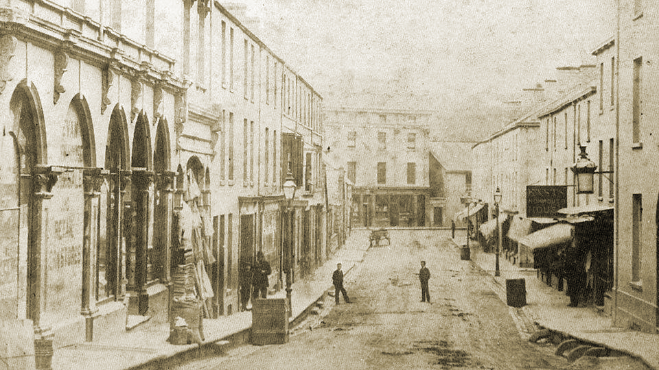 Caroline Street, Bridgend in the early 1900s