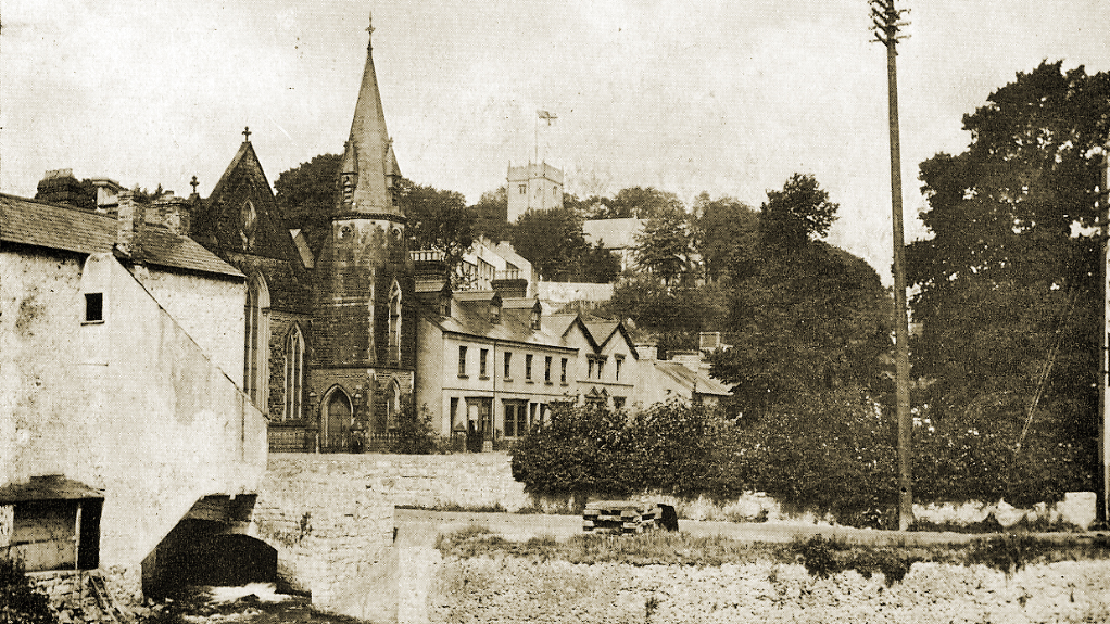View from the old bridge, Bridgend in the early 1900s