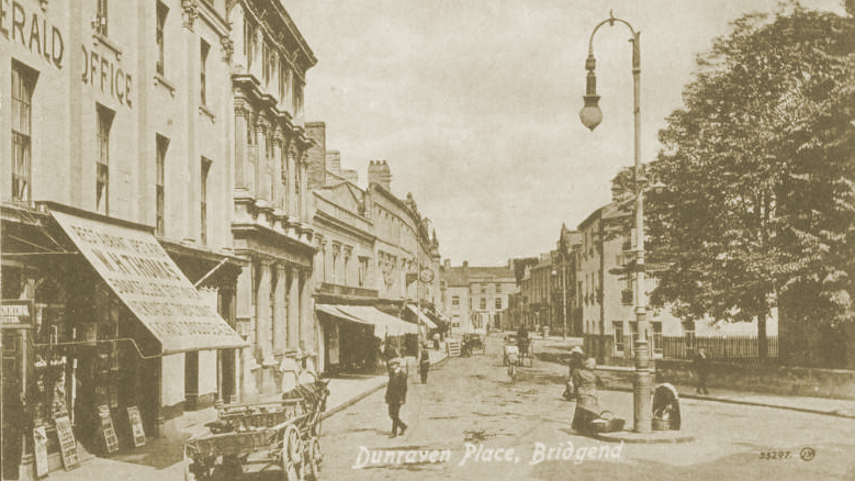 Dunraven Place, Bridgend in the early 1900s